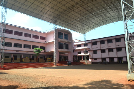 Assembly hall of Snehagiri English Medium School, Kuruvilasery, Mala (Snehagiri EMHS Mala)