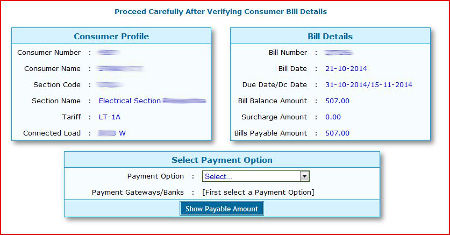 Step 3 for KSEB Online Bill Payment - Verify your information