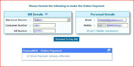 Step 3 for KSEB Online Bill Payment - Verify your information - Payment effected