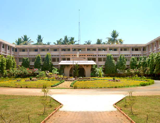 Courtyard image of Mala Carmel College for women, Mala Thrissur Kerala