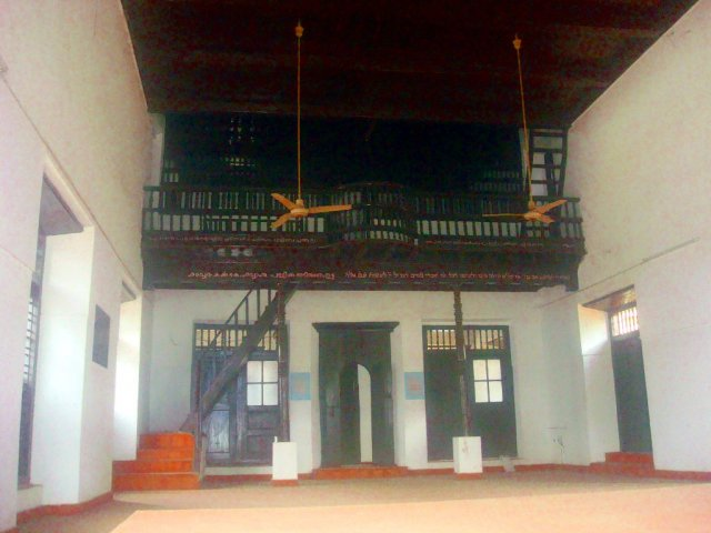 Mala jewish Synagogue inside view, Thrissur Kerala