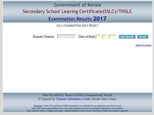 Kerala SSLC / THSLC 2017 result