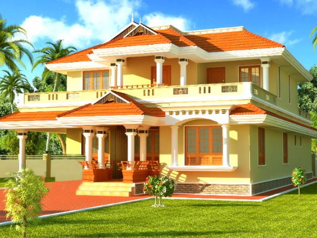 Turnkey House/villa building construction by Kovattamma constructions in  Thrissur Kerala