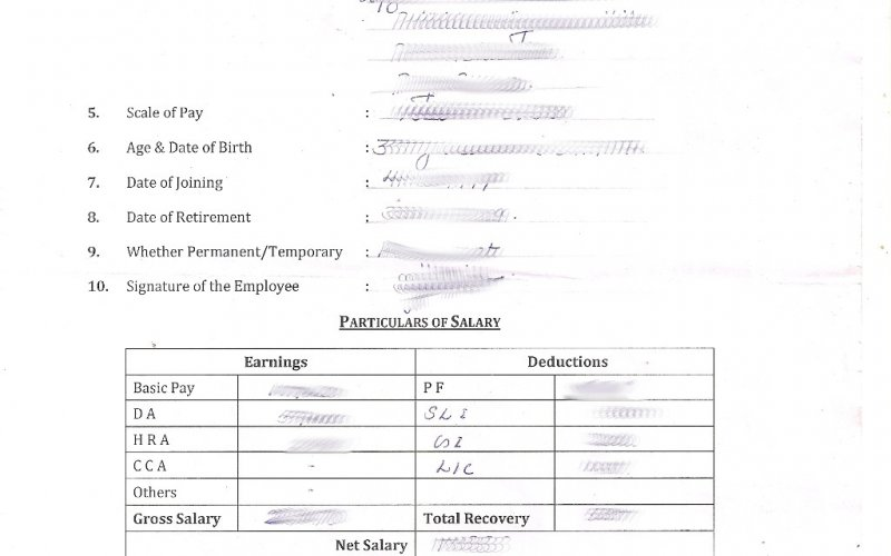 Mala Thrissur  Format Of Salary Certificate Letter
