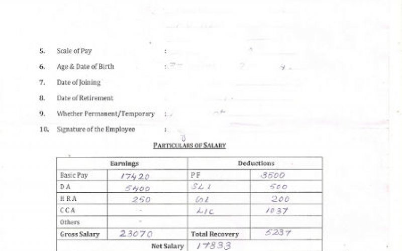 Image Gallery  Format Of Salary Certificate Letter
