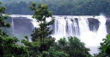 Athirapally waterfalls during mosoon season